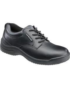 SkidBuster Men's Black Slip-Resistant Oxford Work Shoes , , hi-res