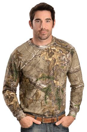 Wrangler ProGear Realtree Xtra Long Sleeve Camo Pocket Tee, Camouflage, hi-res