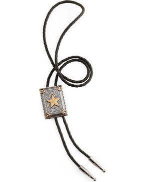 Horseshoe & Star Bolo Tie, Silver, hi-res