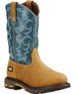 Ariat Women's Blue Workhog H2O Cowgirl Work Boots - Round Toe  , , hi-res