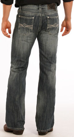 Rock and Roll Cowboy Pistol Flat Seam Detail Jeans - Boot Cut, , hi-res