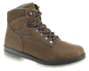 "Wolverine Durashocks 6"" Waterproof Insulated Work Boots, Stone, hi-res"
