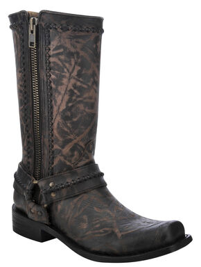 Corral Men's Distressed Harness Cowboy Boots - Narrow Square Toe, Distressed, hi-res