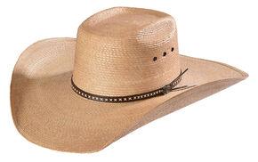 4d738c03204 Justin Bent Rail Gunslinger Copper Straw Cowboy Hat