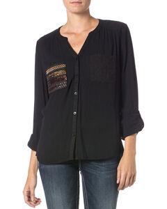 Miss Me Pocket Detail Long Sleeve Top, , hi-res