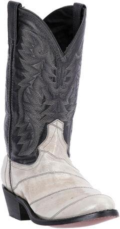 Laredo Men's Marshall Grey Eel Cowboy Boots - Round Toe , , hi-res