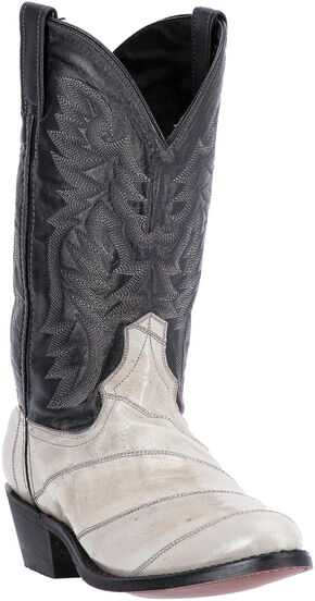Laredo Men's Marshall Grey Eel Cowboy Boots - Round Toe , Grey, hi-res