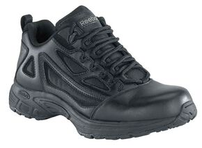 Reebok Men's Athletic Oxford Work Shoes - Round Toe, Black, hi-res
