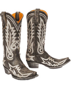 "Old Gringo Women's Nevada Heavy 13"" Western Fashion Boots - Snip Toe, Black, hi-res"