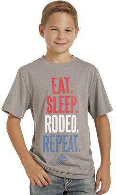 Panhandle Slim Boys' Grey Eat Sleep Rodeo Repeat Tee , , hi-res
