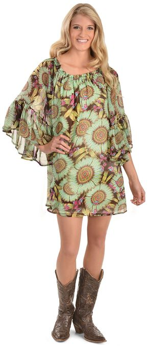Cowgirl Justice Flora Bell Sleeve Dress, Multi, hi-res