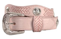 Exclusive Gibson Trading Co. Girls' Pink Scalloped Concho Belt, , hi-res
