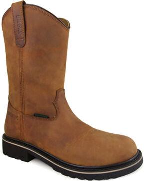 Smoky Mountain Men's Scottsdale Work Boots - Round Toe , Brown, hi-res