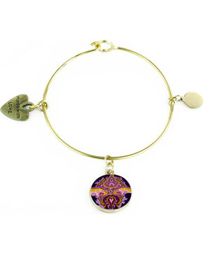 Jilzarah Sunset Gold Bangle, Sunset, hi-res