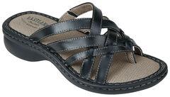 Eastland Women's Black Lila Thong Sandals , , hi-res