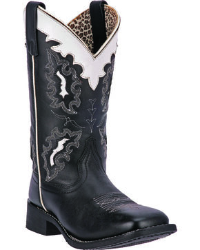 Laredo Women's Escapade Cowgirl Boots - Square Toe, Black, hi-res