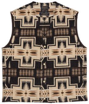 Pendleton Men's Taos Jacquard Vest, Brown, hi-res