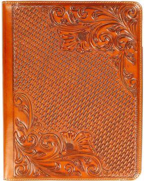 Floral Tooled Basketweave iPad 4 Case, Tan, hi-res