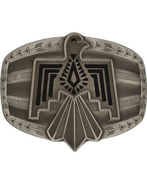 Rock 47 by Montana Silversmiths Tribal Flair Silver Phoenix Attitude Buckle, Antique Silver, hi-res