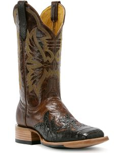 Cinch Caiman Wingtip Cowboy Boots - Square Toe, , hi-res