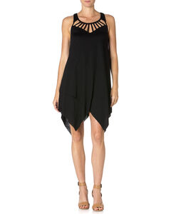 Miss Me Tulip Bottom Black Dress , , hi-res