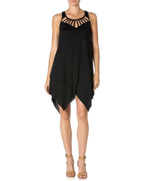 Miss Me Tulip Bottom Black Dress , Black, hi-res