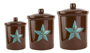 HiEnd Accents Star Canister Set, Brown, hi-res