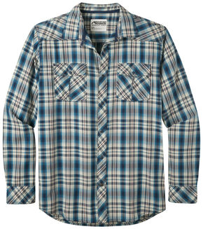 Mountain Khakis Men's Navy Plaid Rodeo Long Sleeve Shirt , Navy, hi-res