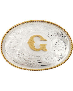 """Montana Silversmiths Initial """"G"""" Buckle, , hi-res"""