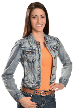 White Crow Women's Ciggy Denim Jacket, Indigo, hi-res
