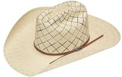 Twister 10X Shantung Americana Straw Cowboy Hat, , hi-res
