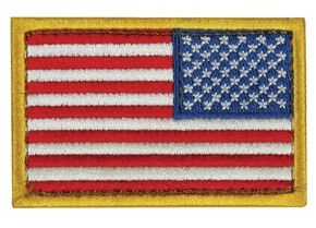 Fox Outdoor USA Flag Patch, Red, hi-res
