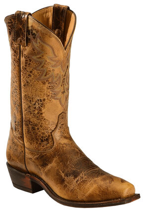 Tony Lama Men's Americana Leather Western Boots - Square Toe, Oak, hi-res