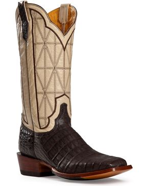 Cinch Caiman Stained Glass Embroidered Cowgirl Boots - Square Toe, Cigar, hi-res