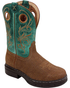 Twisted X Women's Brown Rider Pull On Boots - Steel Toe , Brown, hi-res