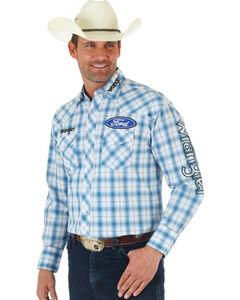 Wrangler Ford Blue Plaid Shirt, , hi-res