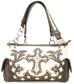 Blazin Roxx Bedecked Fancy Cross Satchel Bag, , hi-res