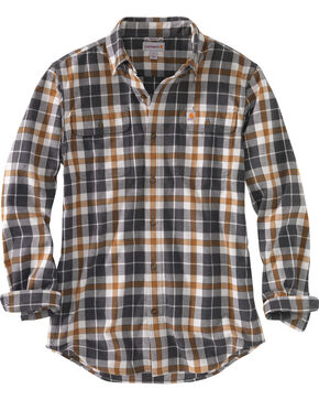 Carhartt Men's Hubbard Plaid Shirt - Tall, Slate, hi-res