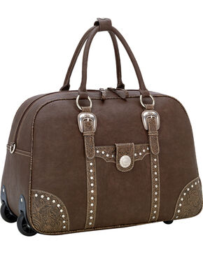 Bandana by American West Lake Tahoe Carry On with Wheels & Handle, Med Brown, hi-res