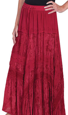 Scully Women's Embroidered Maxi Skirt, , hi-res