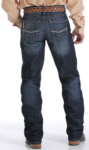 Cinch Men's Indigo Grant Mid Rise Performance Jeans - Relaxed Boot, Indigo, hi-res