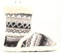 Blazin Roxx Women's White Woven Slipper Booties, , hi-res