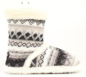 Blazin Roxx Women's White Woven Slipper Booties, White, hi-res
