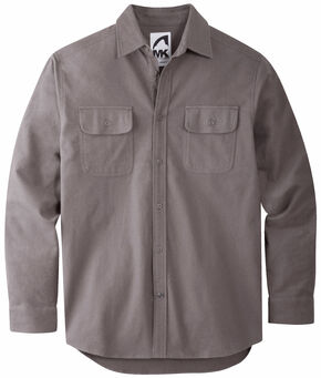 Mountain Khakis Men's Castlerock Grey Ranger Chamois Shirt, Grey, hi-res
