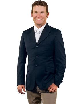 Ovation Men's Sport Riding Show Coat, Navy, hi-res