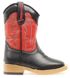 Double Barrel Toddler Boys' Trailboss Side Zipper Cowboy Boots - Square Toe, , hi-res