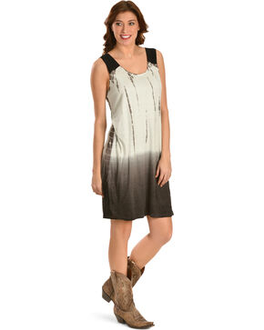 Miss Me Women's In The Groove Tie-Dye Dress, Grey, hi-res