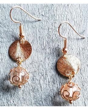 Jewelry Junkie Women's Gold Vermeil Dangle Earrings , Gold, hi-res