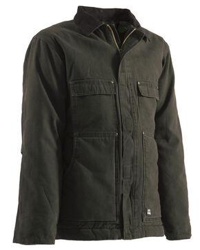 Berne Original Washed Chore Coat - Tall 3XT and Tall 4XT, Olive Green, hi-res