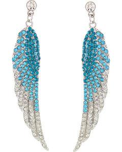 Shyanne Women's Rhinestone Wing Earrings, , hi-res